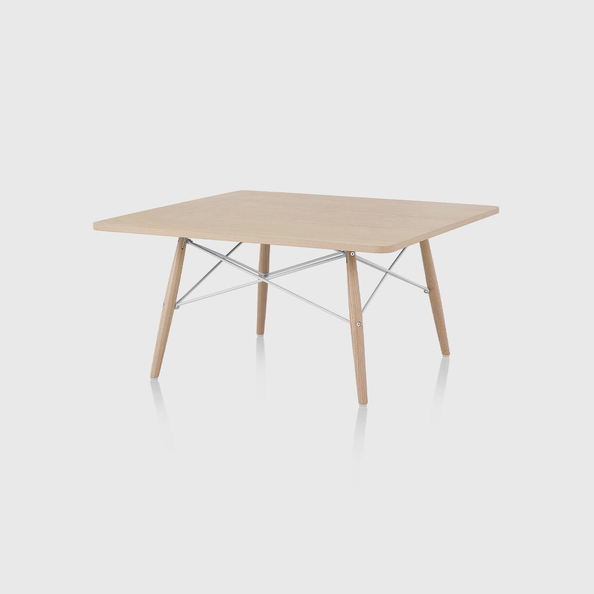Eames Coffee Table, White Ash & White