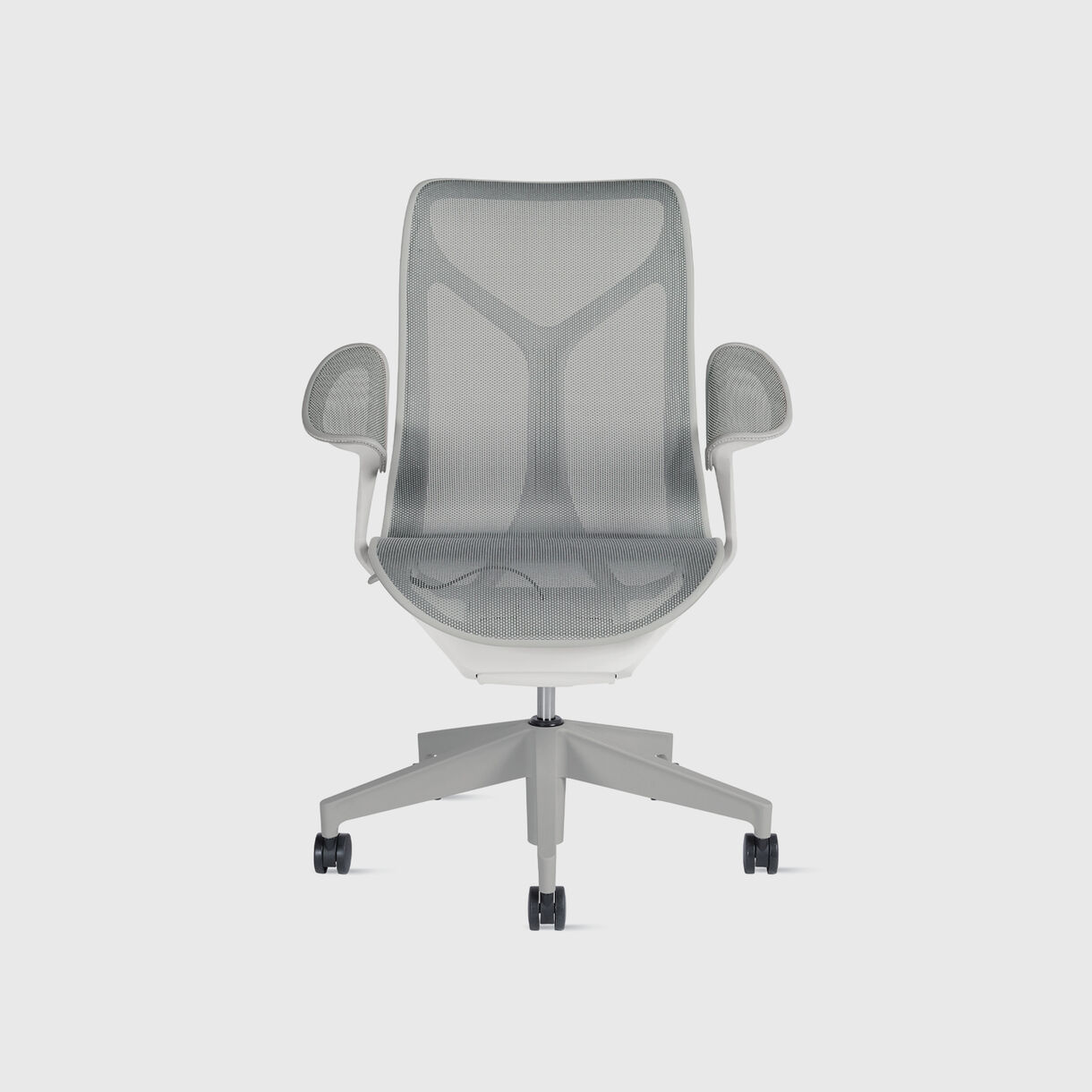 Cosm Chair, Mid Back, Studio White, Leaf Arms
