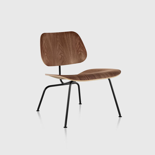 Eames® Moulded Plywood Lounge Chair, Metal Base
