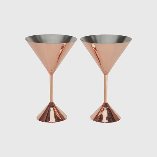 Plum Martini Glasses, Set of 2
