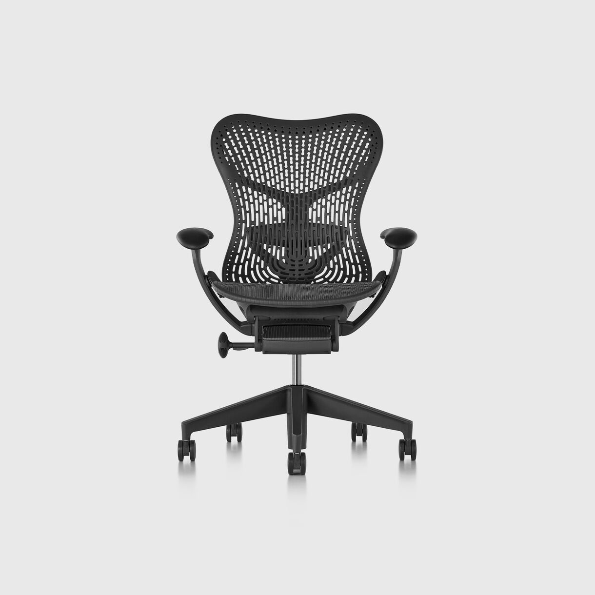 Mirra 2 Work Chair - TriFlex Graphite, Graphite Base & Frame - Fully Adjustable Arms