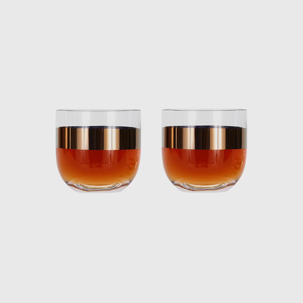 Tank Whiskey Glasses, Copper, Full