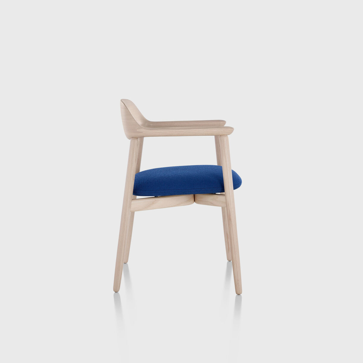 Crosshatch Side Chair, White Ash