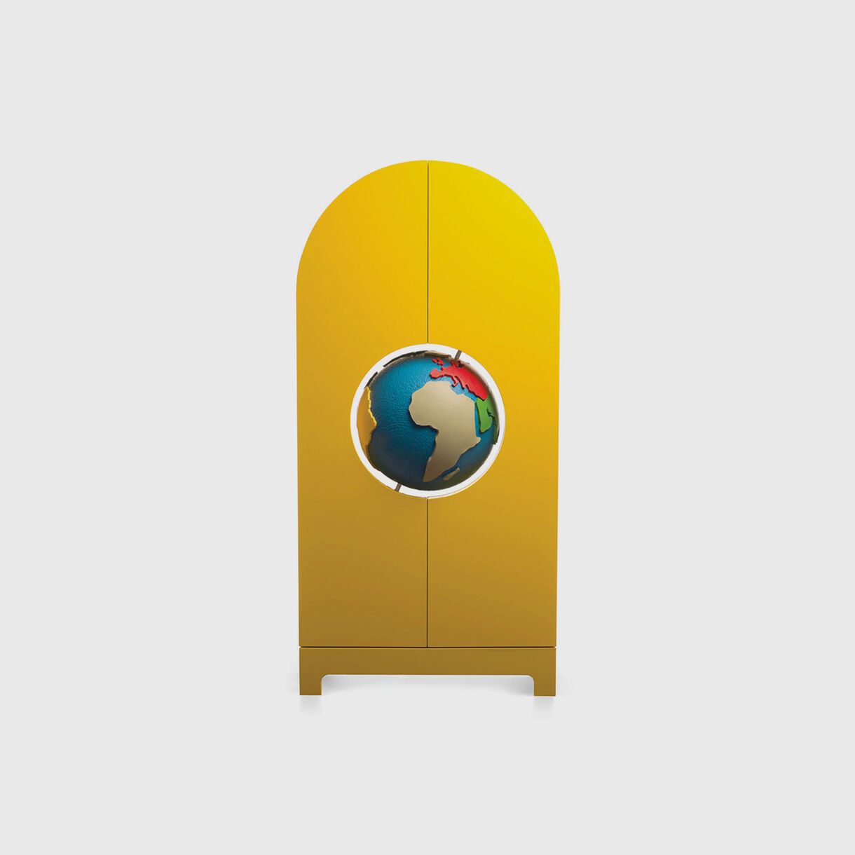 Globe Cabinet, Yellow