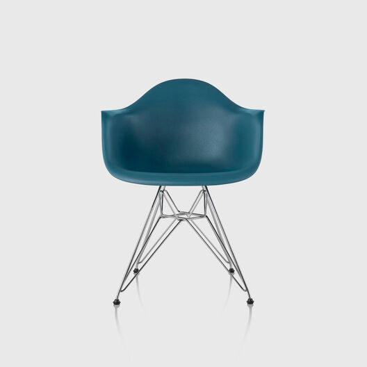 Eames® Moulded Plastic Armchair, Wire Base
