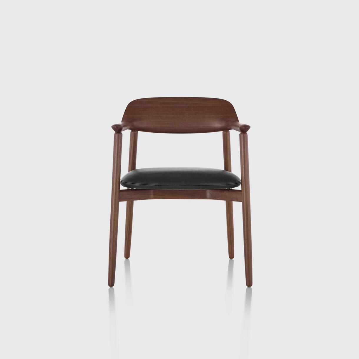 Crosshatch Side Chair, Walnut