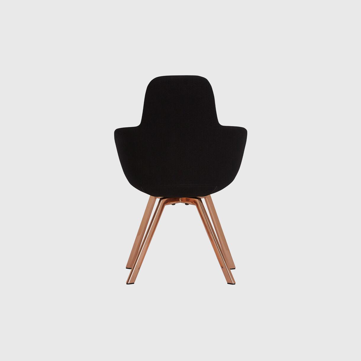 Scoop High Chair, Black & Copper
