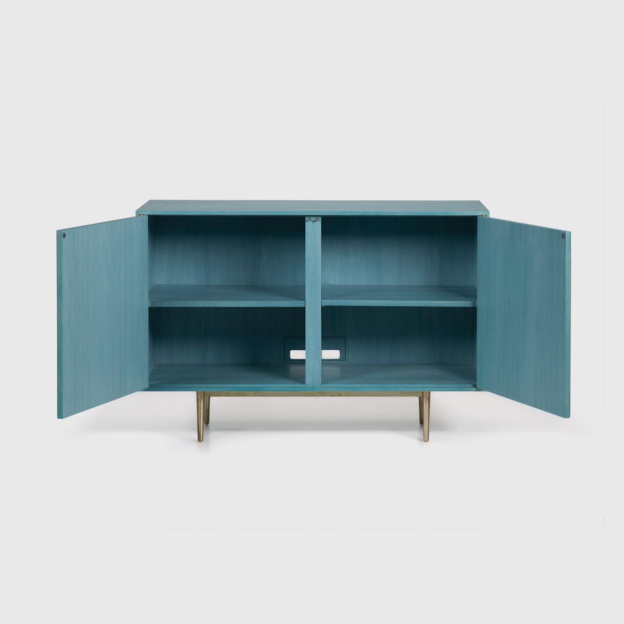 2-Door Dhow Cabinet in Teal