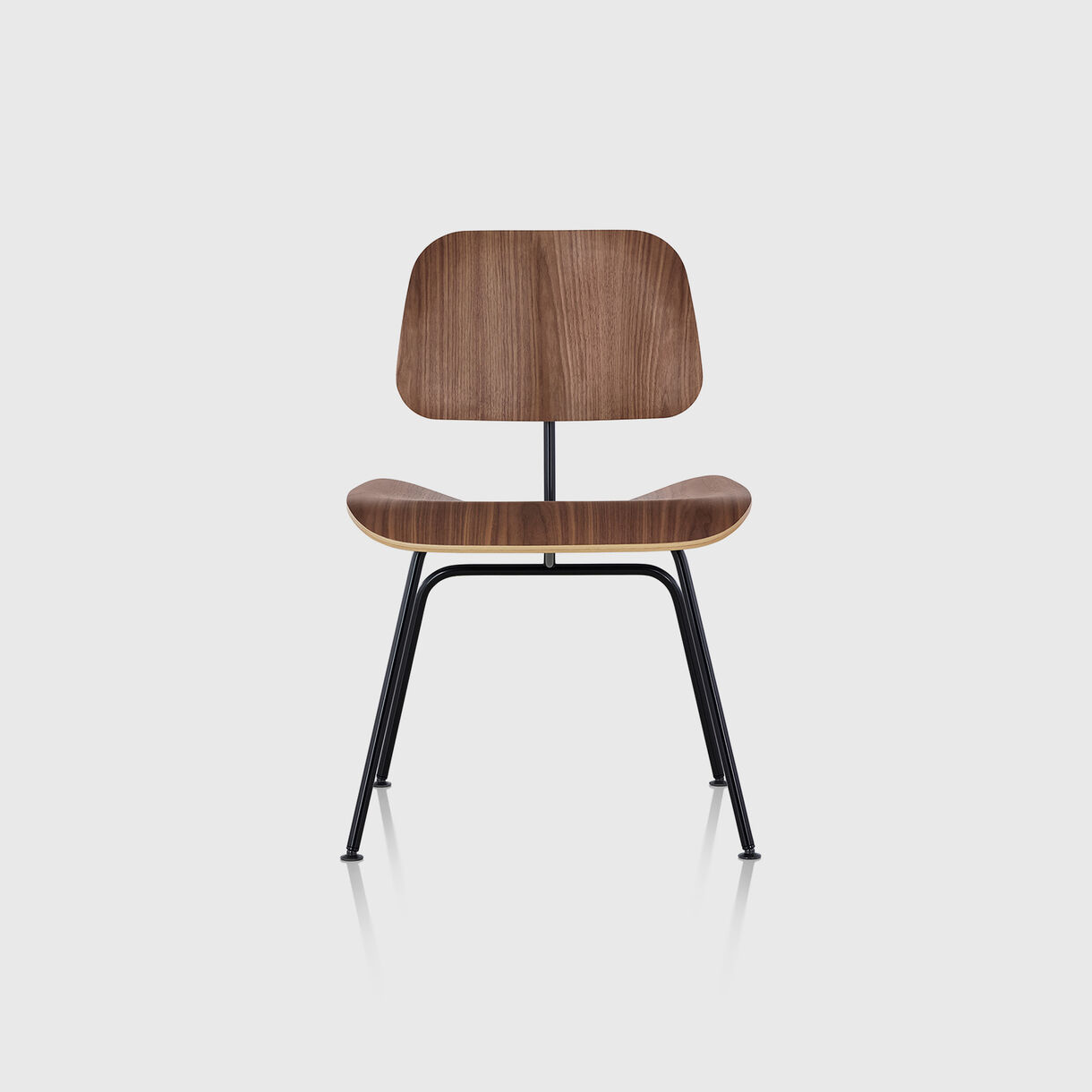 Eames Moulded Plywood Dining Chair, Metal Base, Walnut