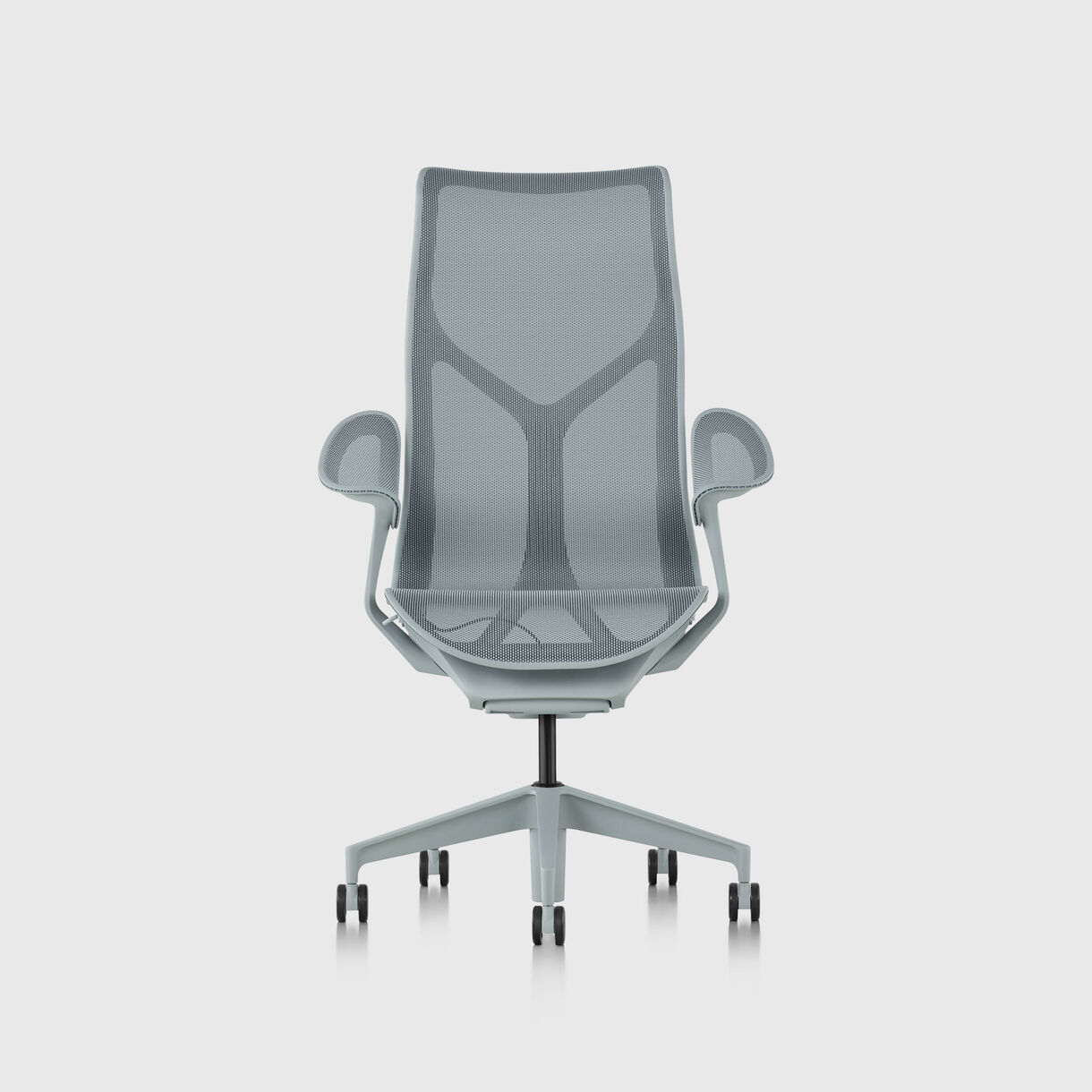 Cosm Work Chair, High Back, Fixed Arms, Glacier