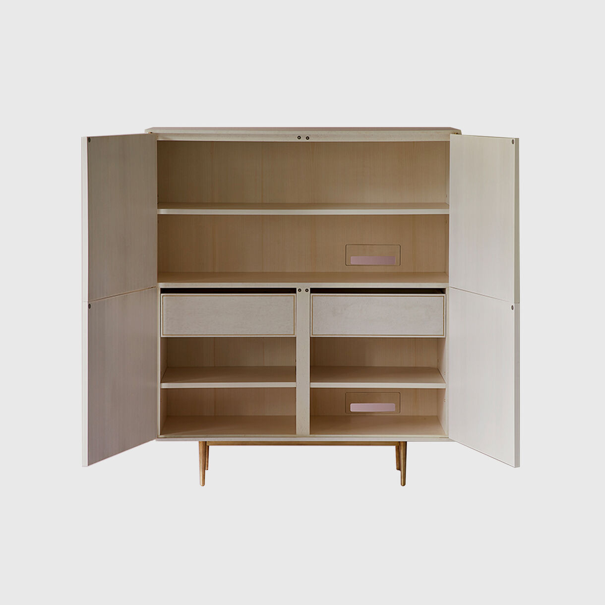 Dhow Tall Cabinet, White, Open