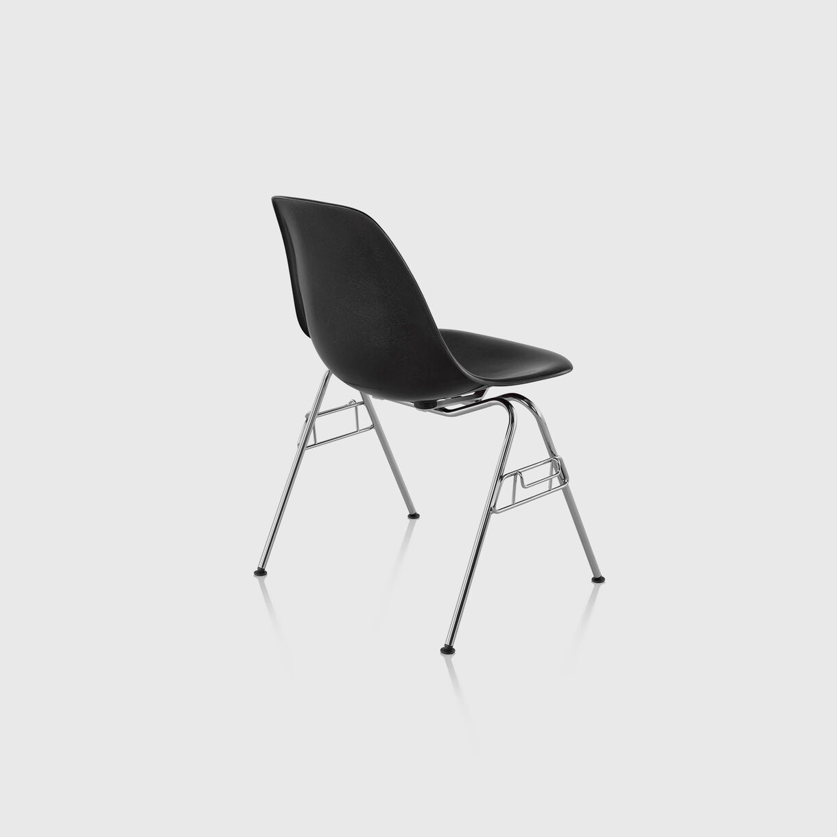 Eames Moulded Fibreglass Side Chair, Stacking Base