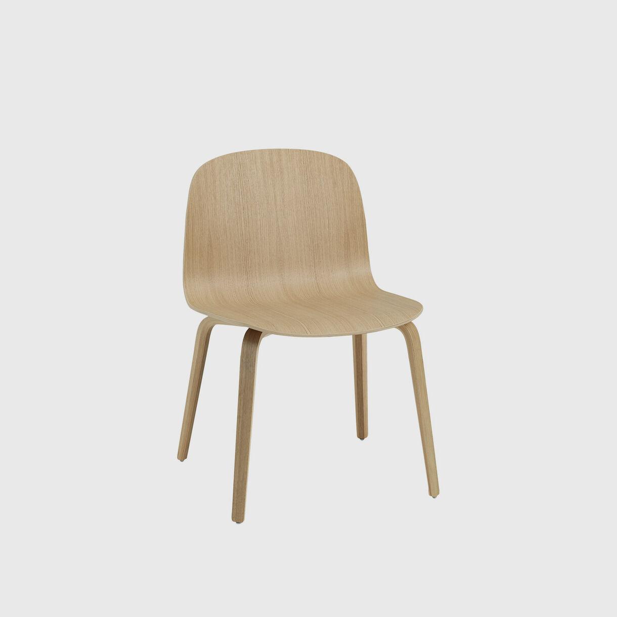 Visu Wide Chair Wood Base, Oak