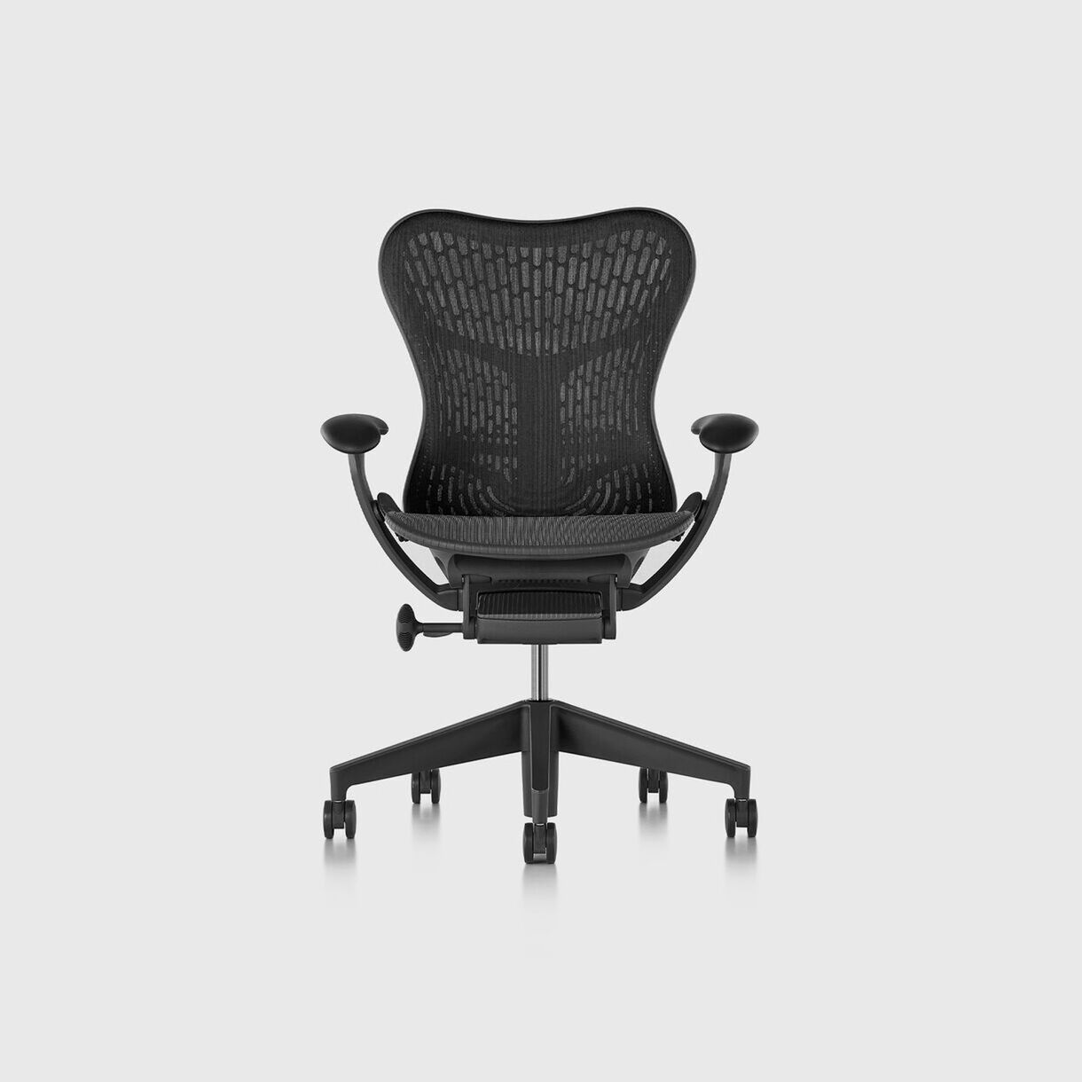 Mirra 2 Work Chair - Butterfly Suspension Graphite, Graphite Base & Frame - Adjustable Arms