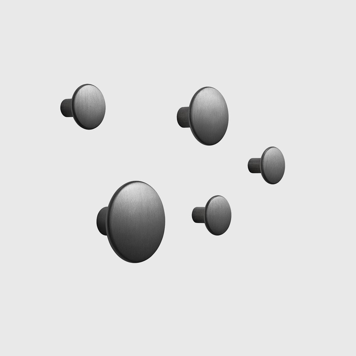 The Dots Metal, Black, Set of 5