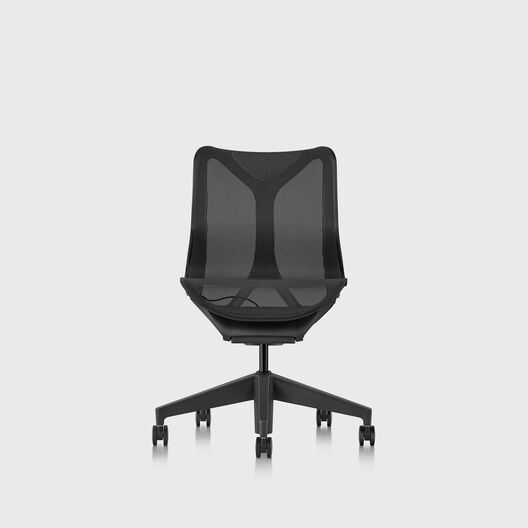 Cosm Chair, Graphite, Low Back, No Arms