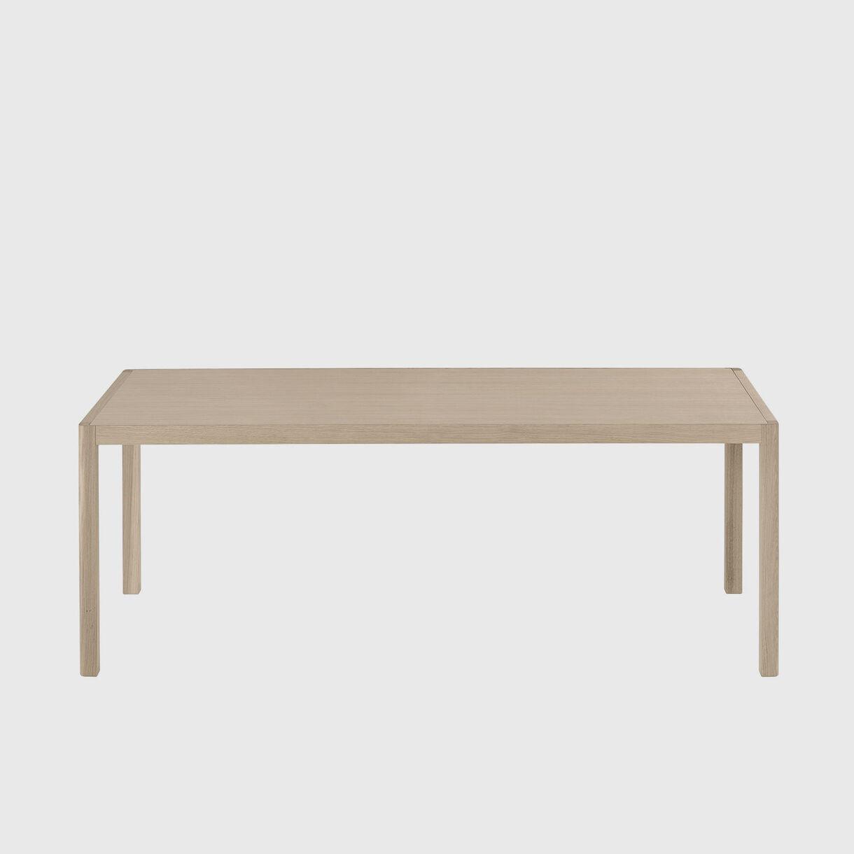 Workshop Dining Table, 2000 x 920, Oak