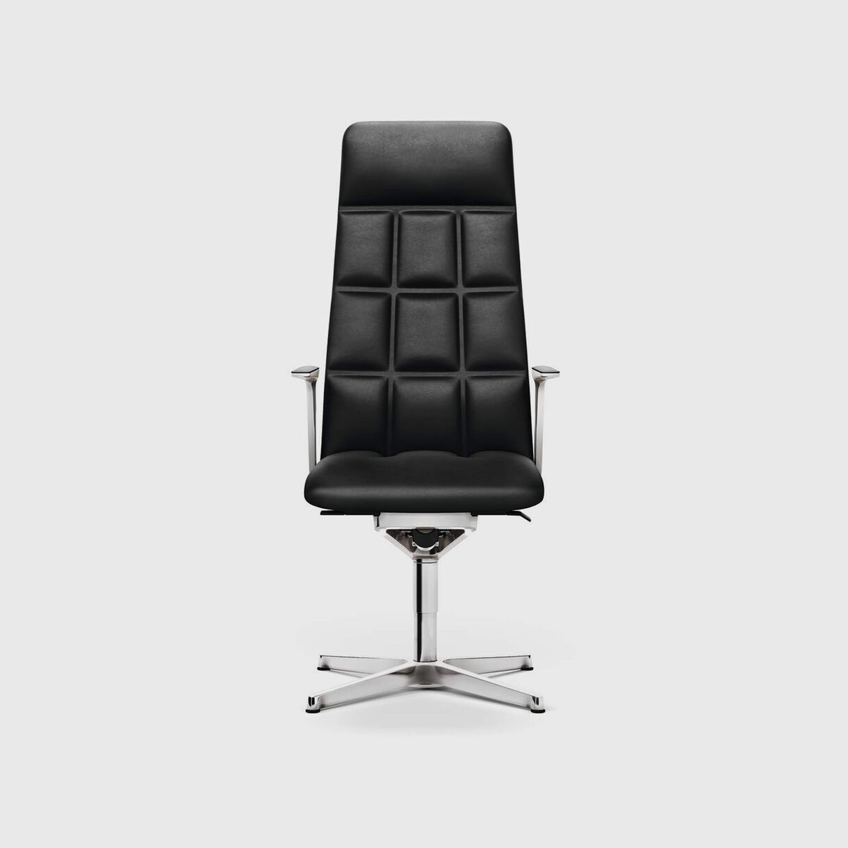 Leadchair Management, High Back, Black