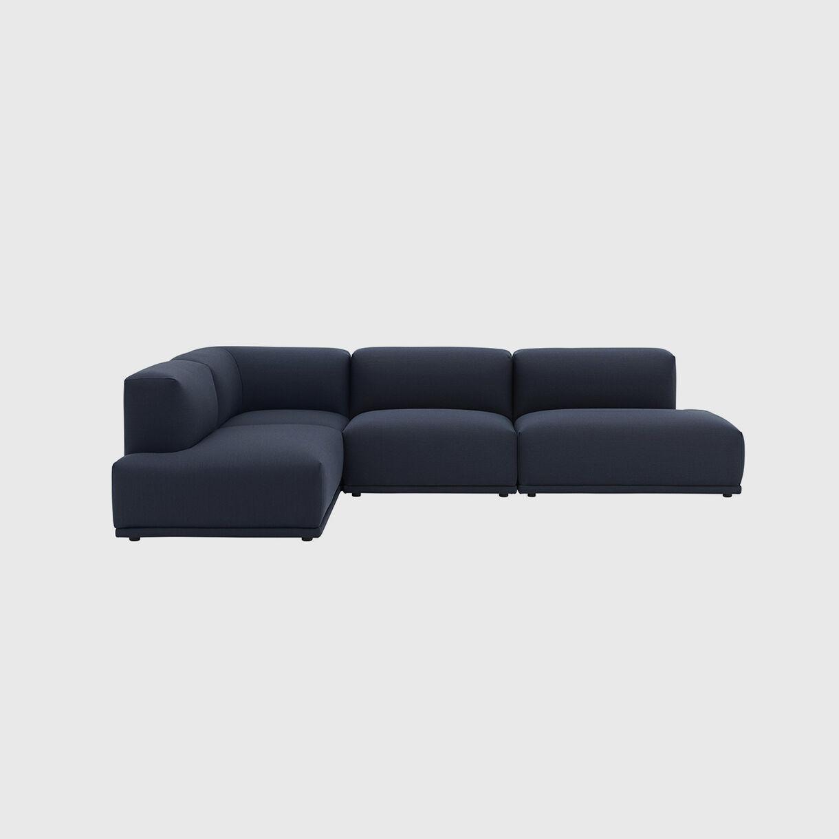 Connect Modular Corner Sofa, Steelcut Trio 796