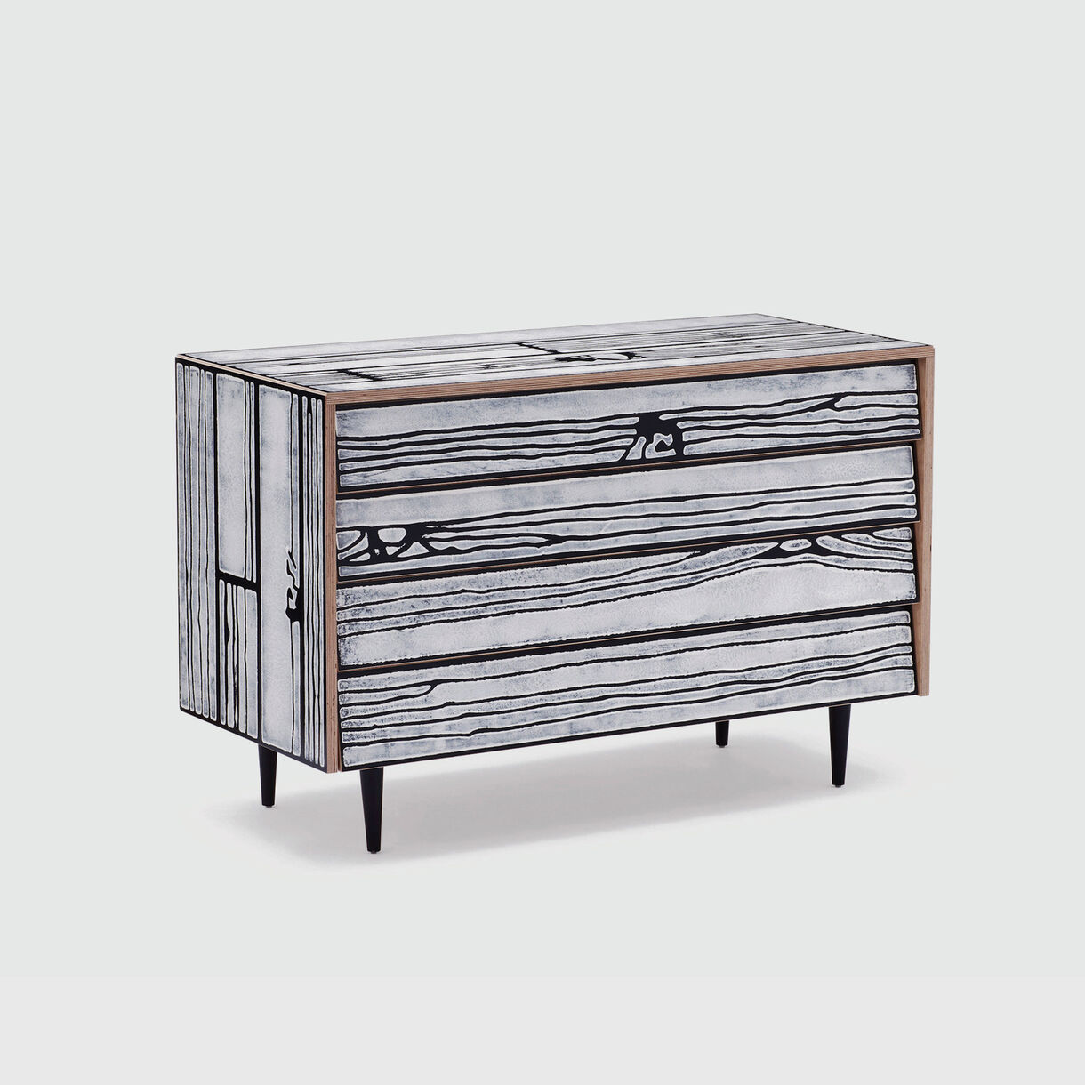 Wrongwoods Chest of Drawers, Black & White