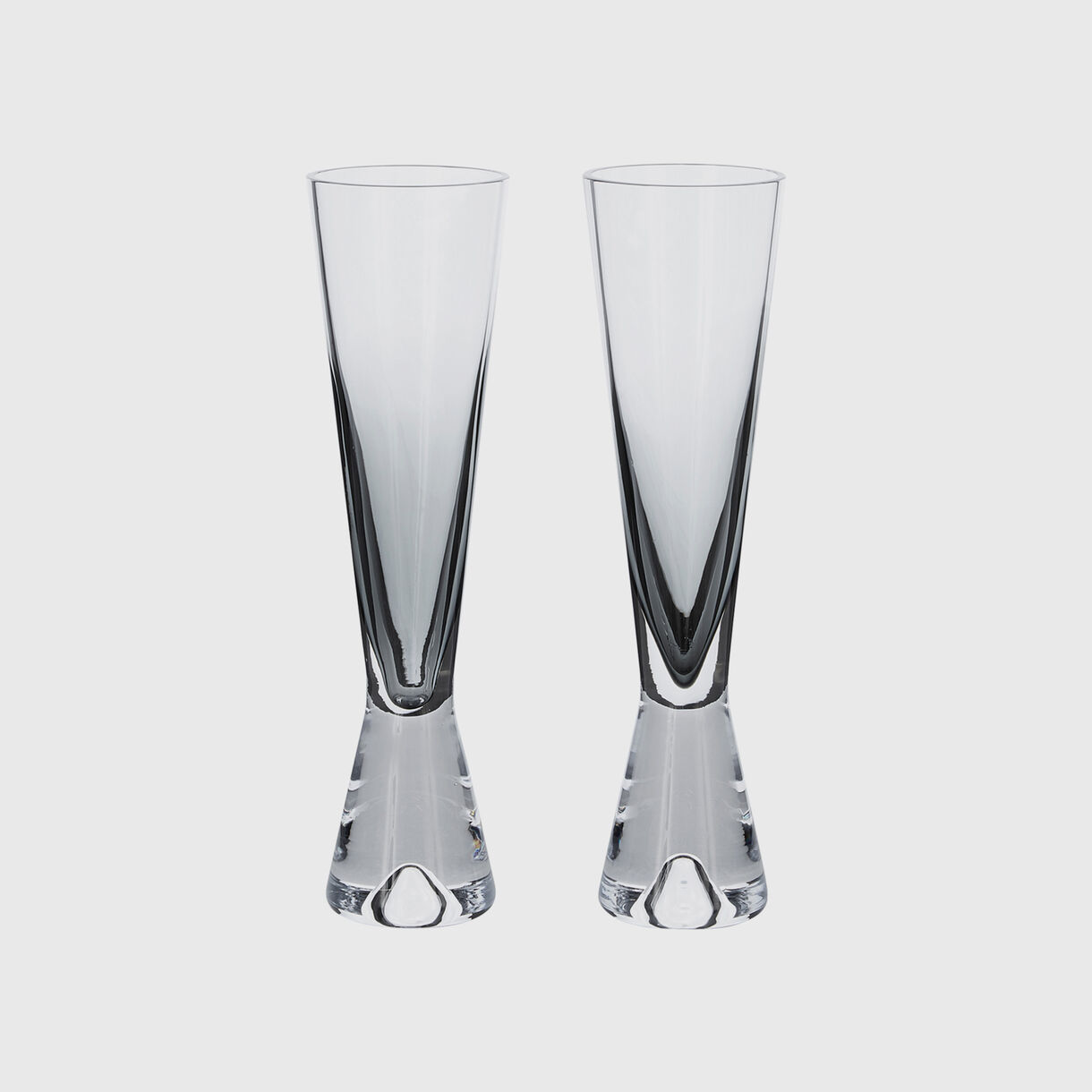 Tank Champagne Glasses, Black
