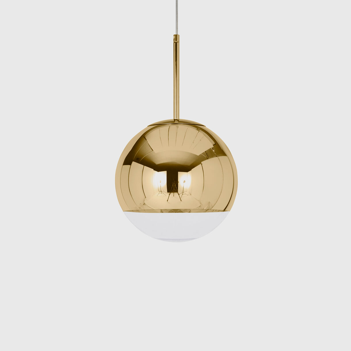 Mirror Ball Pendant 250mm, Gold