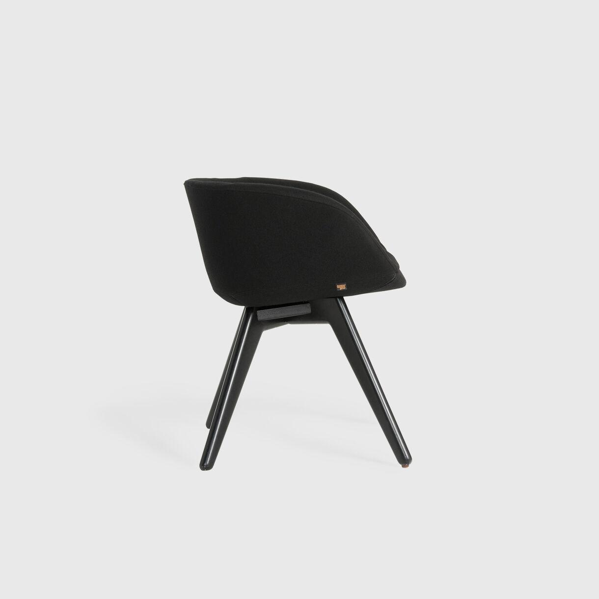 Scoop Low Chair, Black