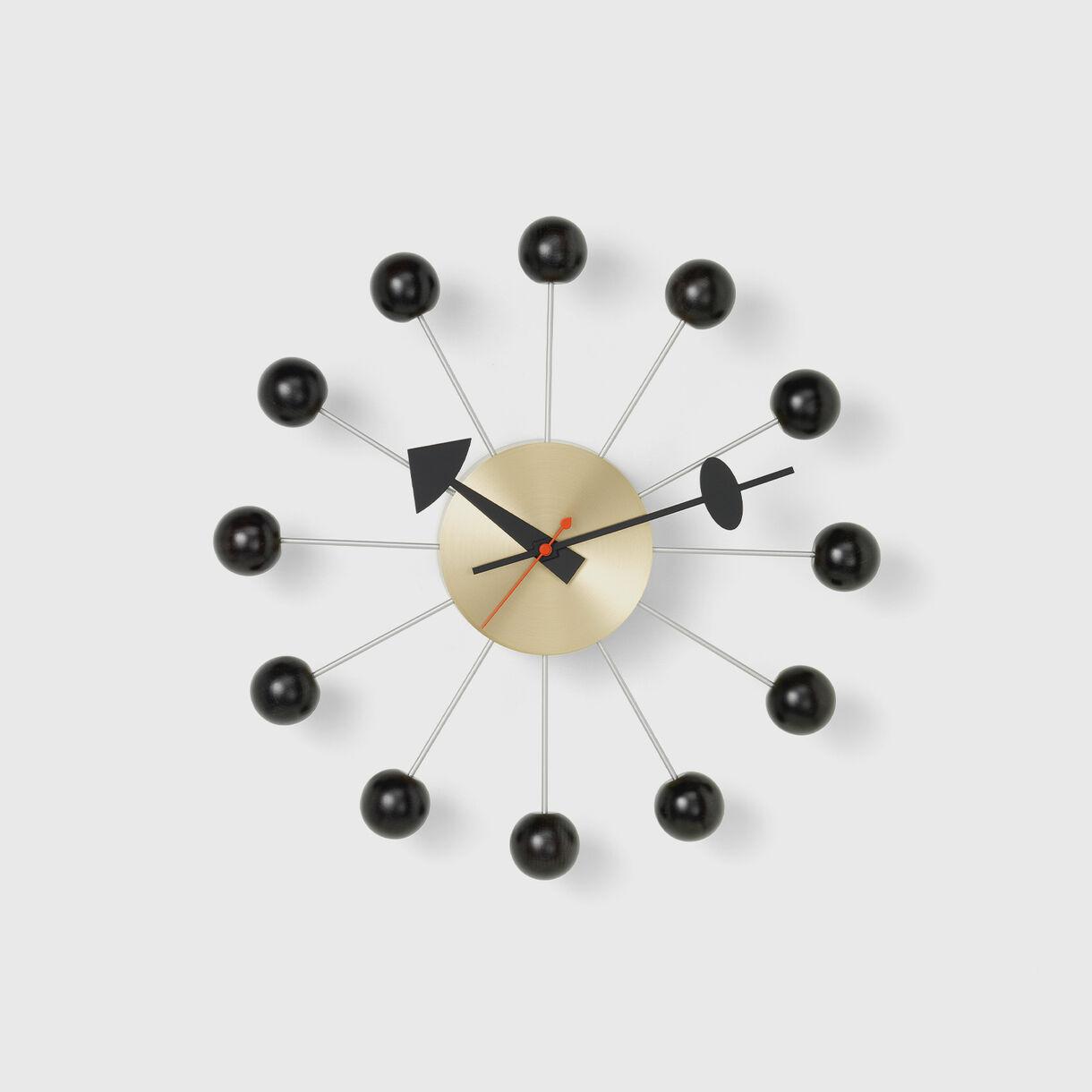 Ball Wall Clock, Black
