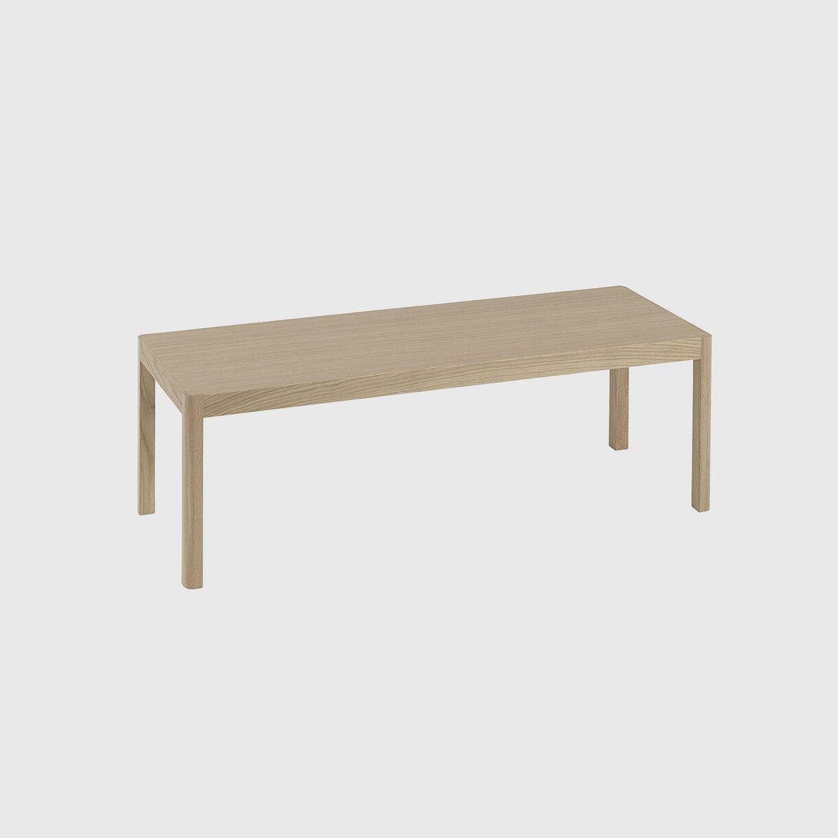 Workshop Coffee Table 1200x430mm, Oak