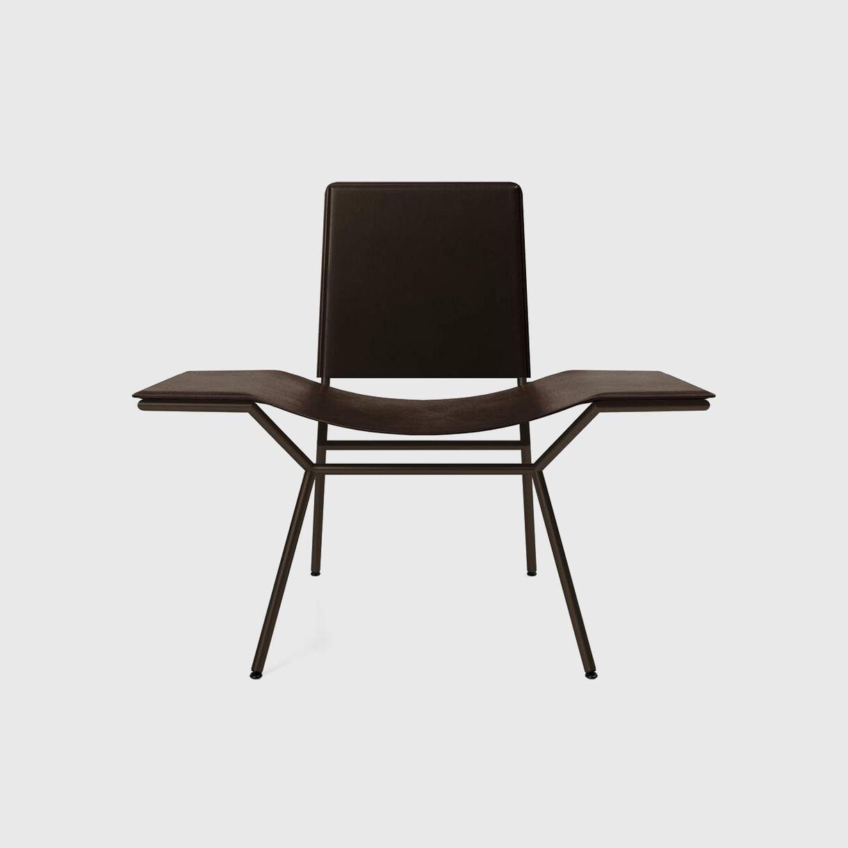 Aissu Side Chair, Saddle Coffee Leather