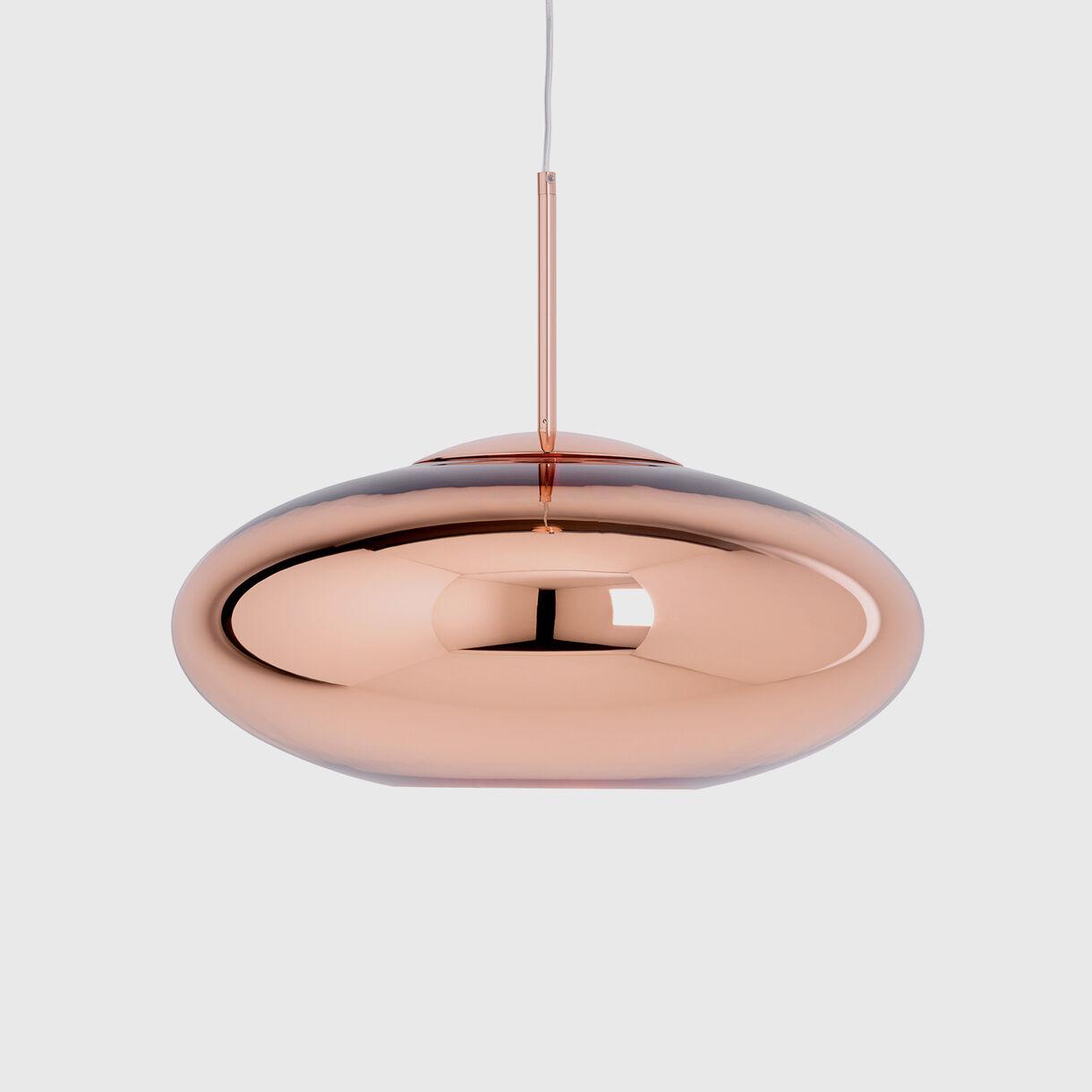 Copper Pendant Lamp Wide