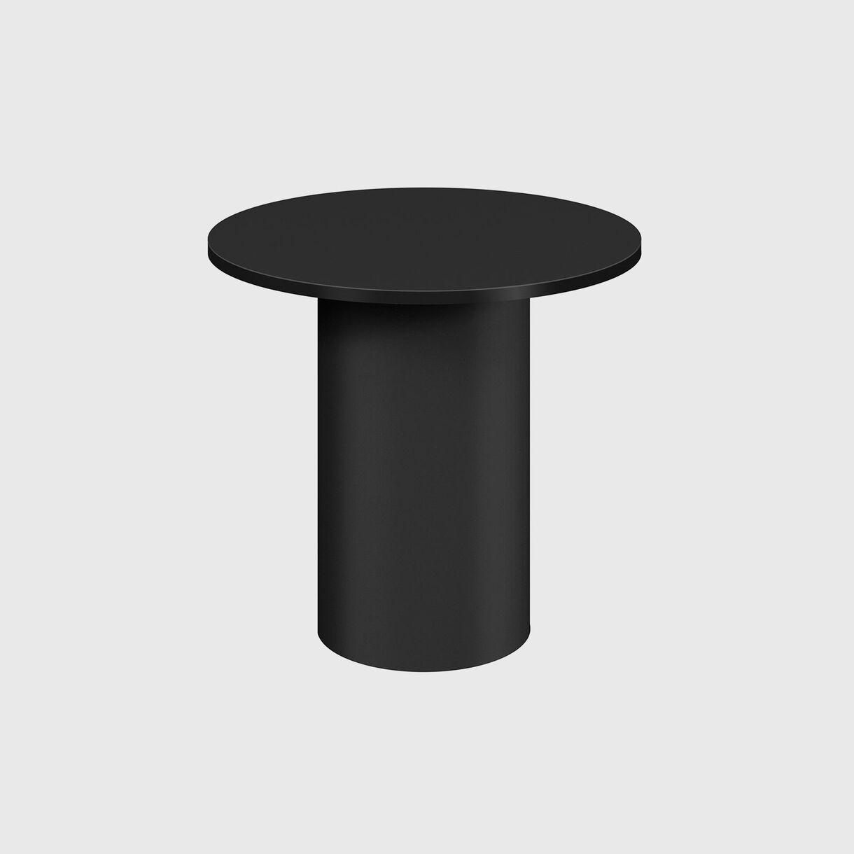 Enoki Metal Side Table, High, Jet Black