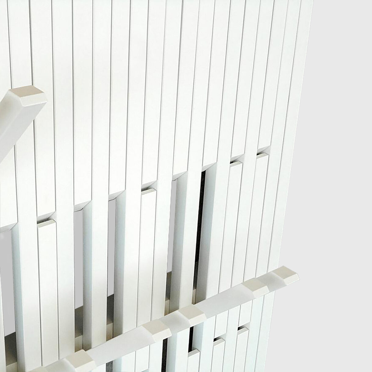 Piano Coat Rack, Small, Beech White