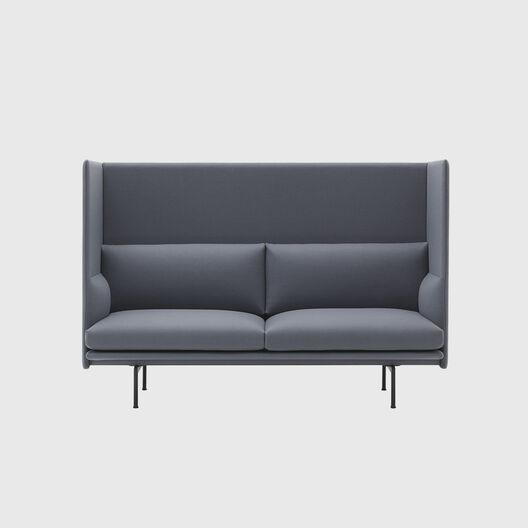 Outline Highback Sofa, 2 Seater