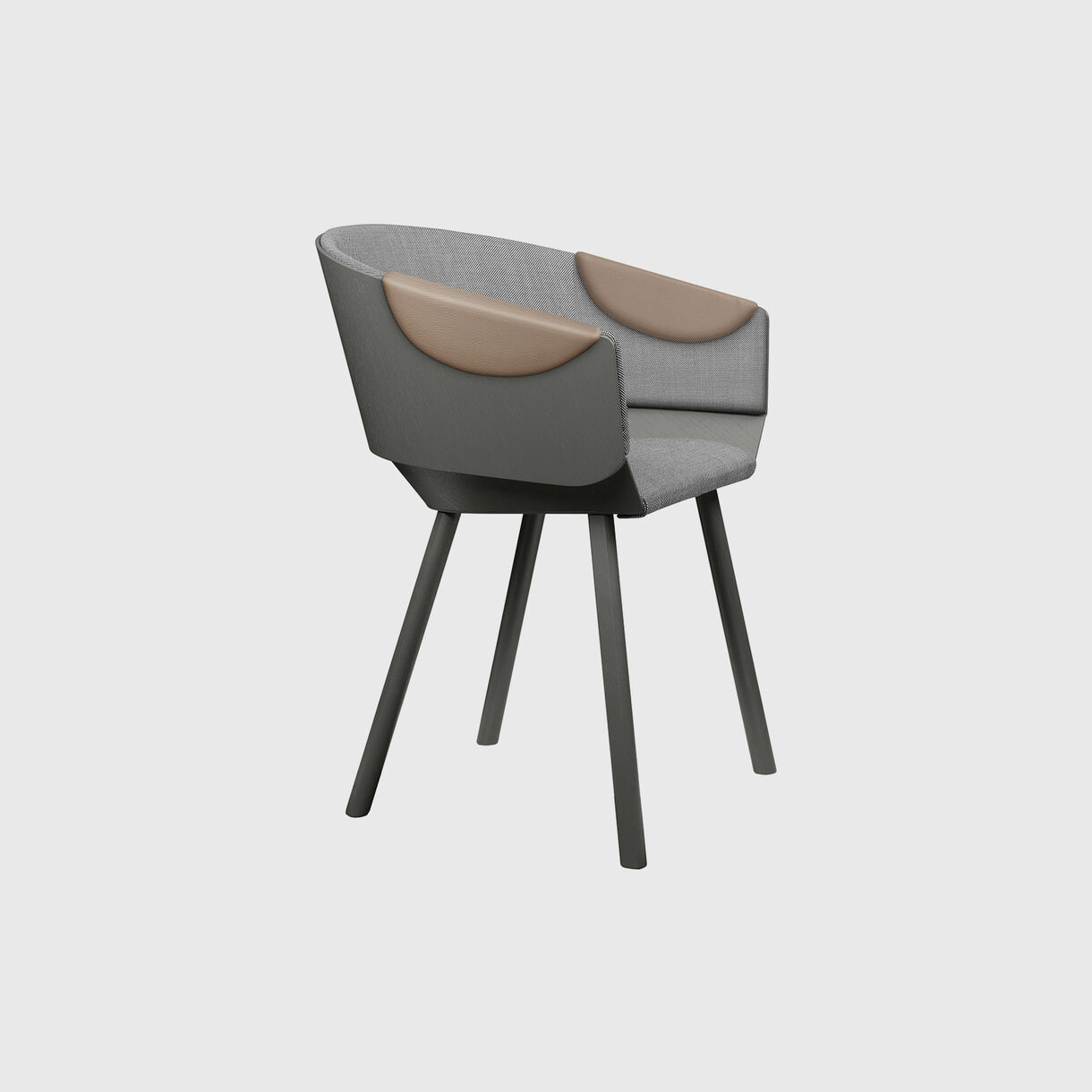 Houdini Armchair, Grey Upholstered