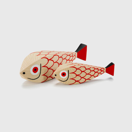 Wooden Doll, Mother & Child Fish