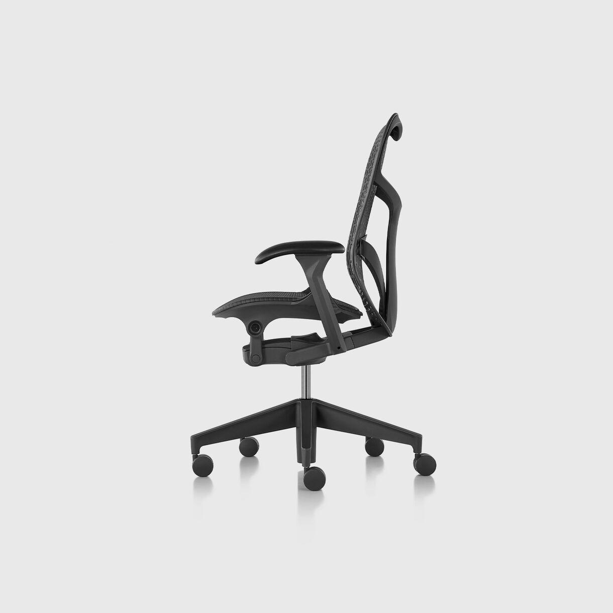 Mirra 2 Work Chair - TriFlex Graphite, Graphite Base & Frame - Fully Adjustable Arms