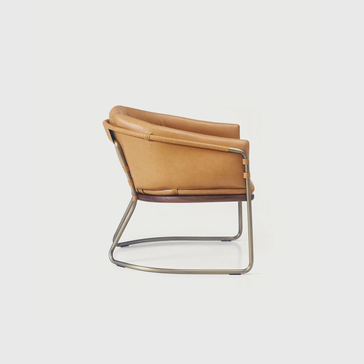 Geometric Armchair in Leather