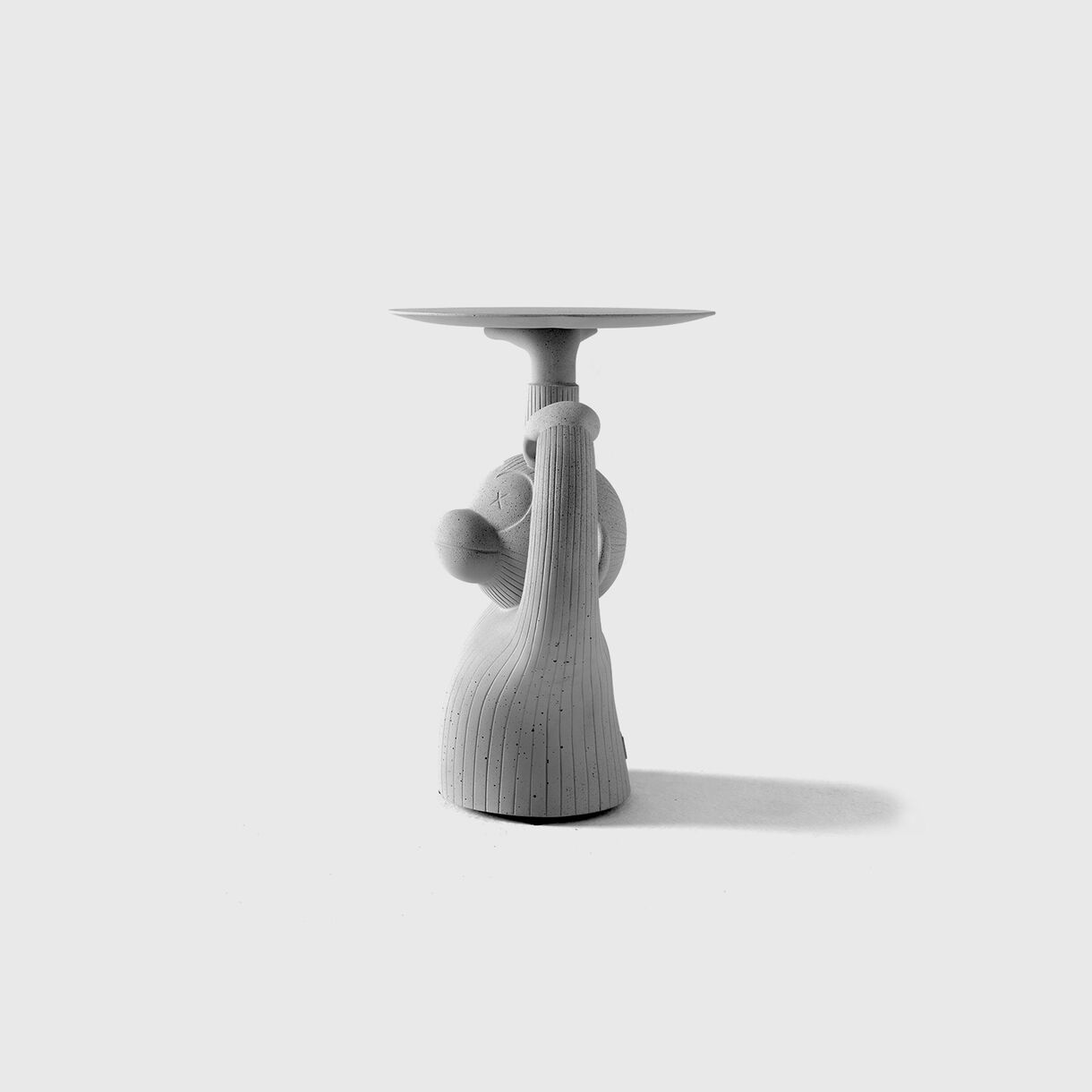 Monkey Side Table, Grey