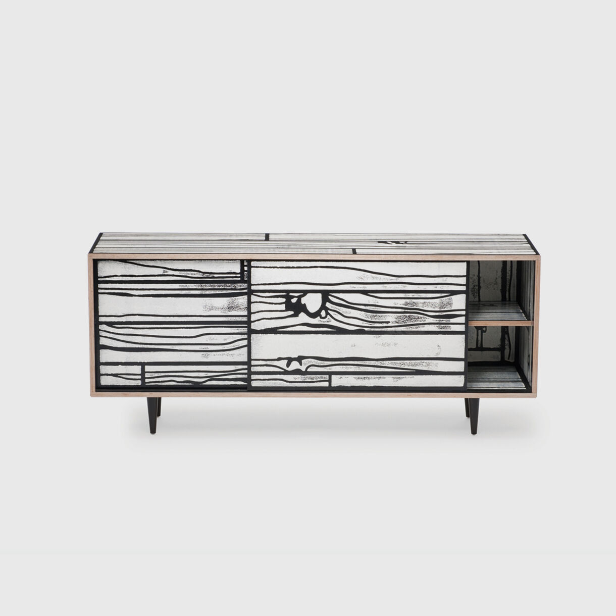 Wrongwoods Low Cabinet, Black & White