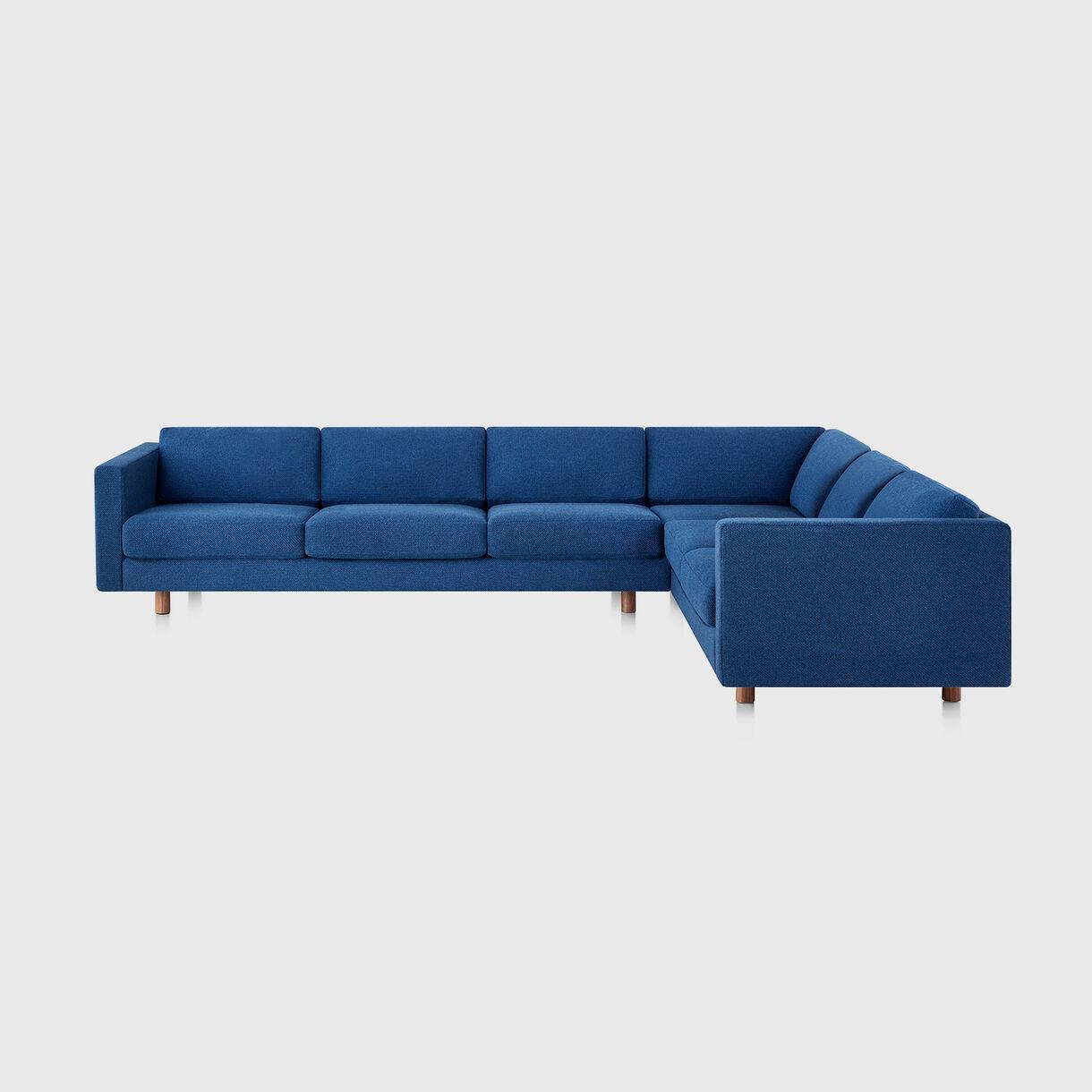 Lispenard Sectional Sofa, Right Configuration, Superweave Marine