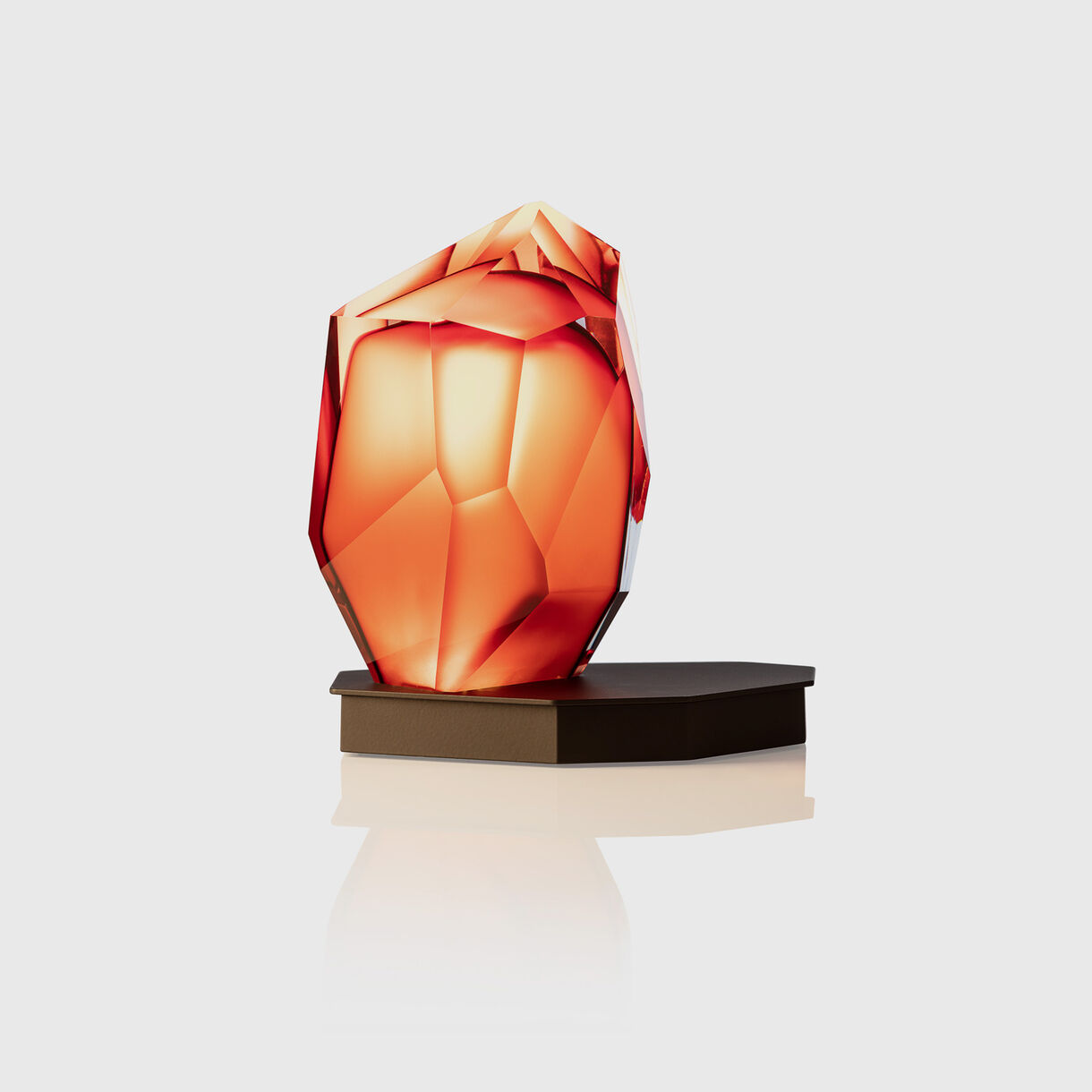 Crystal Rock Table Lamp, Red