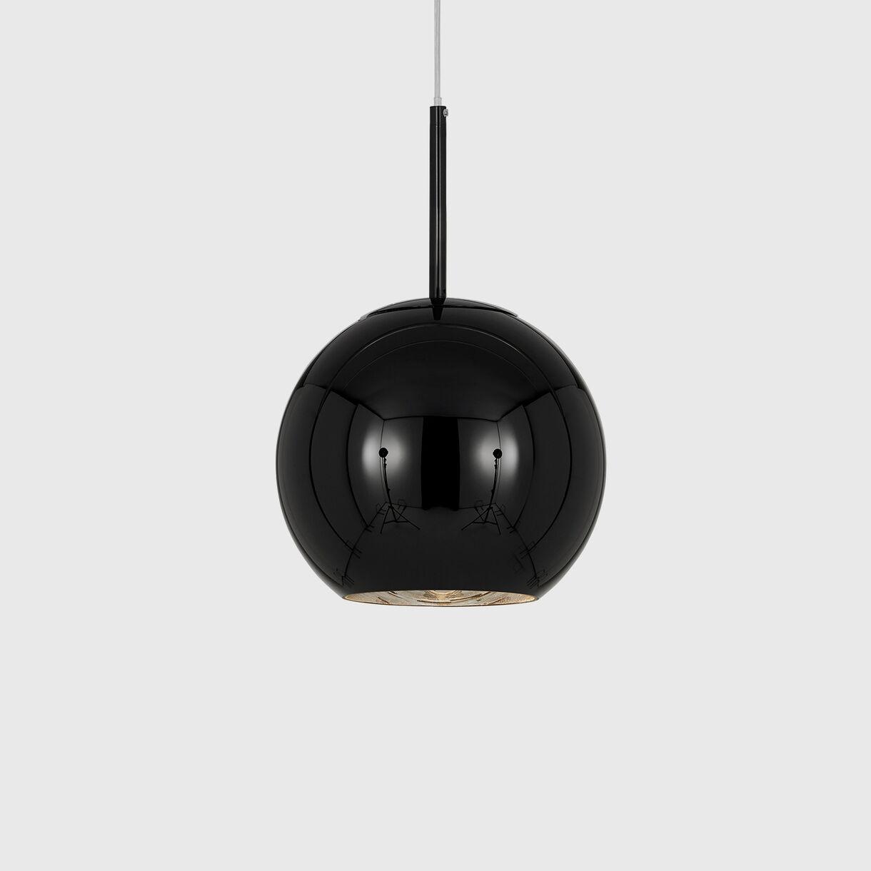 Copper Pendant Lamp 250mm, Black