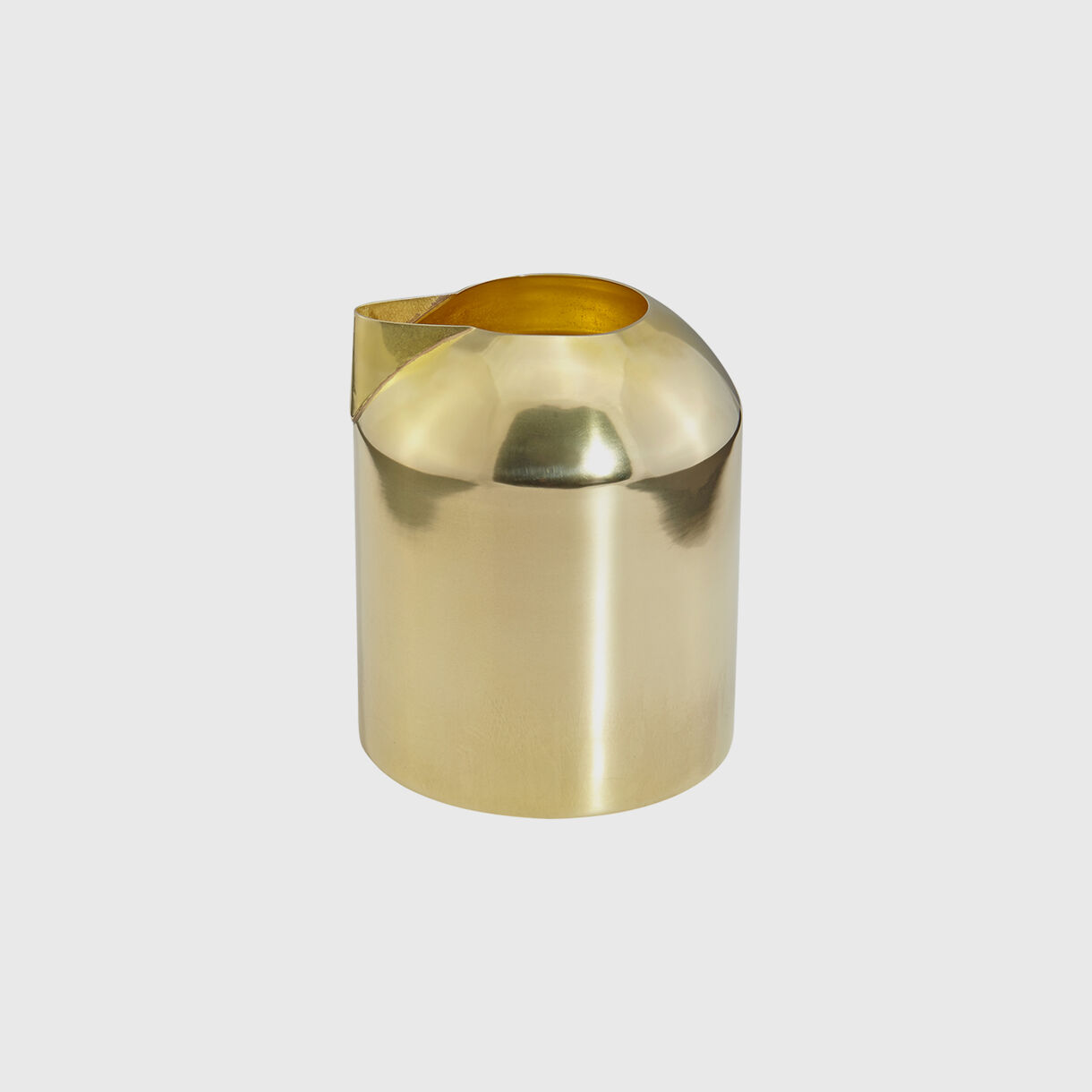 Form Milk Jug, Brass