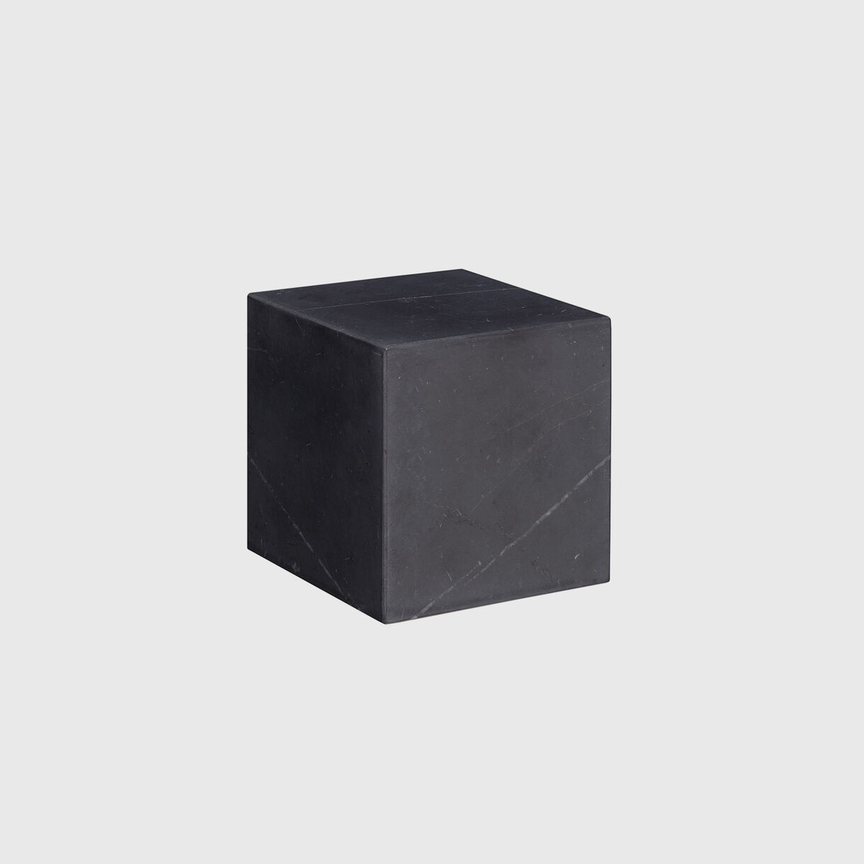 Stop Bookend, Black Carrara Marble, Small