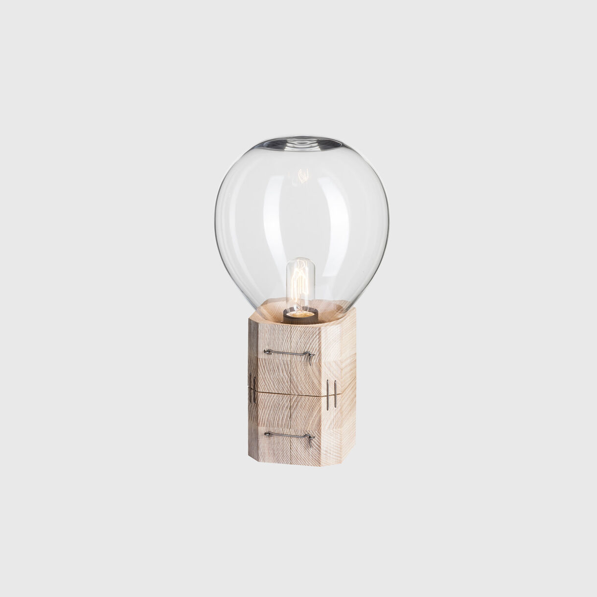 Moulds Table Lamp, Medium, Clear