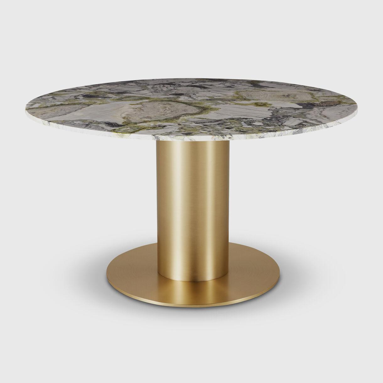 Tube Primavera Dining Table 1400, Brass