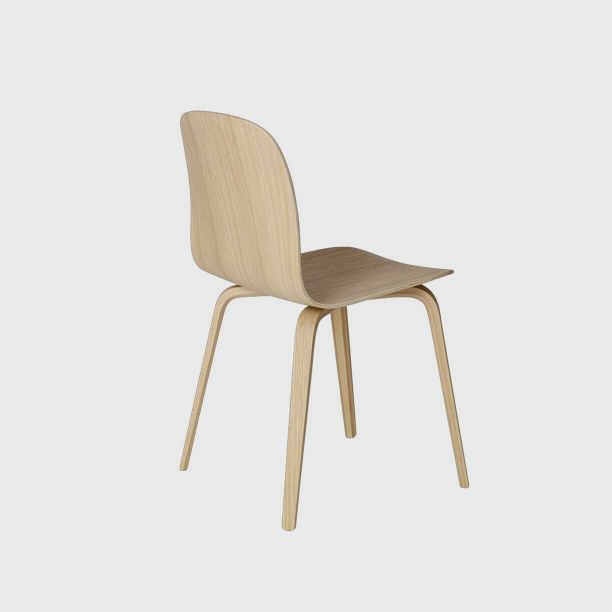 Visu Chair Wood Base, Oak