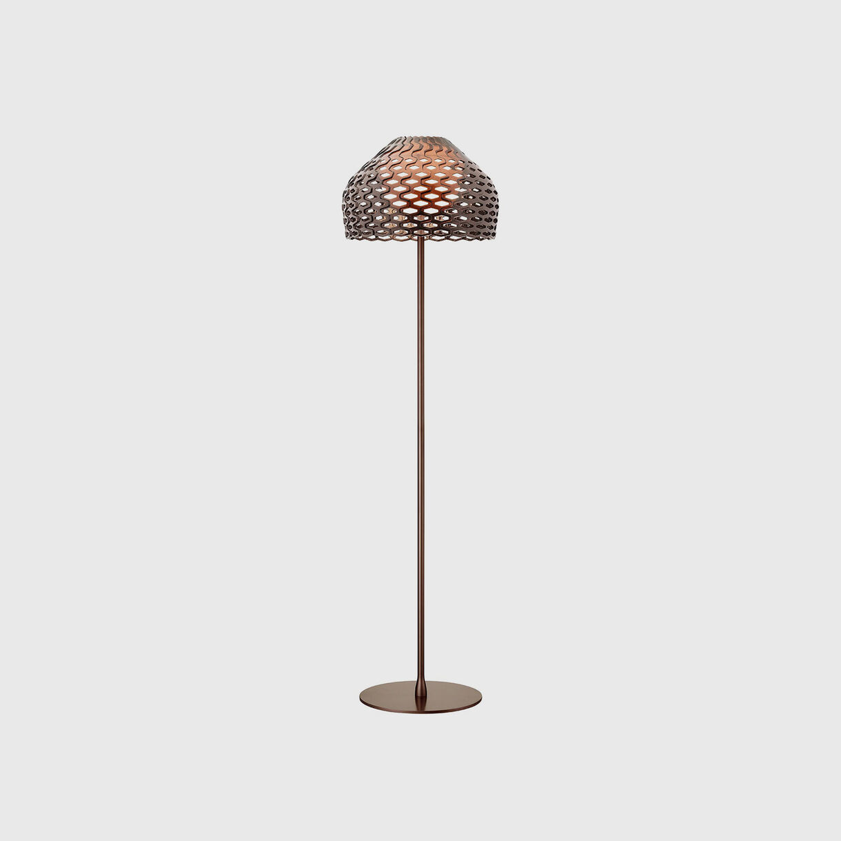 Tatou Floor Lamp, Ochre Grey
