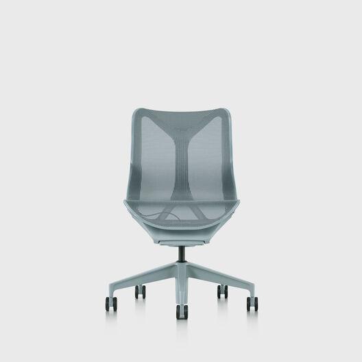 Cosm Chair, Glacier, Low Back, No Arms